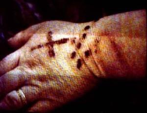 стигмата - кровоточащая рана
