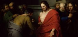 апостол - Фома рассматривает раны