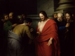 Фома проверяет раны у Иисуса