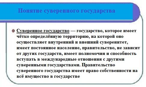 определение суверенного государства из википедии