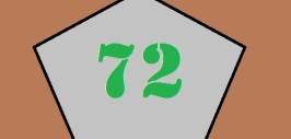 число 72 в пятиугольнике