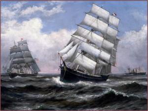 Корабли выходят в плавание