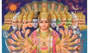 В Индуизме у богов множество лиц