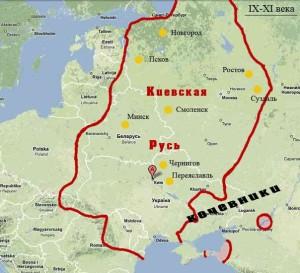 Карта Киевской руси