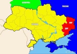 Карта ДНР