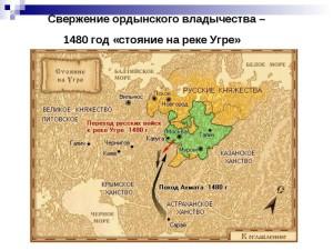 Карта боевых действий на Угре