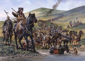 Татары форсируют  Волгу