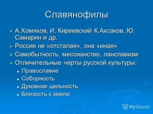 Славянофилы - кратко