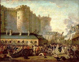 Великая французская революция началась взятием Бастилии