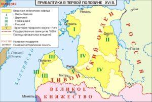 Карта Ливонии